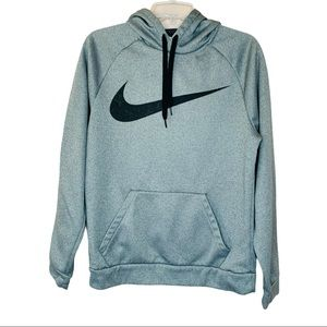 Nike Dri-Fit Gray Fleece Lined Pull Over Hoodie S